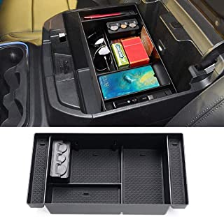 Jaronx for 2019 Chevy Silverado 1500 / GMC Sierra 1500 Center Console Organizer Tray,Armrest Console Storage Box with Coin Container- Replaces 84106530 (Full Console w/Bucket Seats ONLY)
