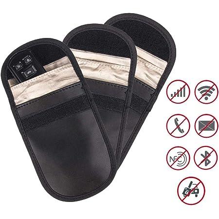 Mengshen Signal Blocker Tasche Für Autoschlüssel Faraday Taschen Für Schlüssellose Einfahrt Auto Diebstahlsicherung Packung Mit 3 Stück Baumarkt