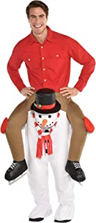 Amscan Snowman Ride-On Costume for Adults, Christmas Costume, Standard