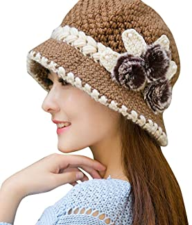 Faux Rabbit Fur Cap Fashion Women Hat Winter Skullies Beanies Knitted Hats