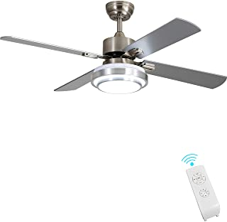 Indoor Ceiling Fan Light Fixtures - FINXIN Remote LED 52...
