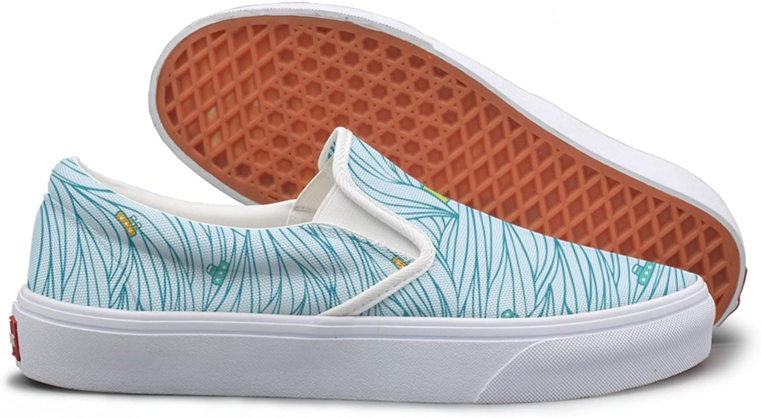 Light Waves Pattern Canvas shoes Women Casual