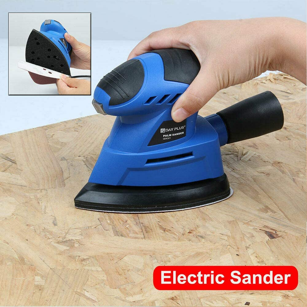 130W Electric Palm New item Sander with Sandpapers Fashionable metal for 6Pc polishin