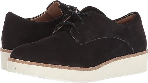 Black Smooth Nubuck Leather