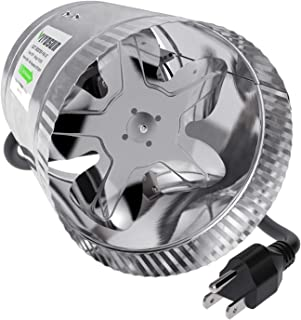 VIVOSUN 6 inch Inline Duct Booster Fan 240 CFM, HVAC Exhaust Intake Fan, Low Noise & Extra Long 5.5' Grounded Power Cord
