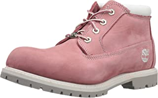 pink and grey timberlands