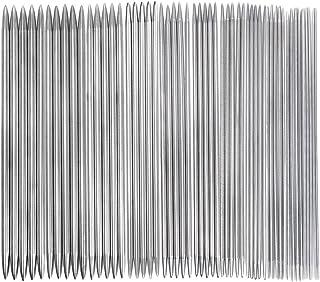 55本 11サイズ 棒針セット 編み針 ステンレス製 ダブル尖った  2.0mm-6.5mm