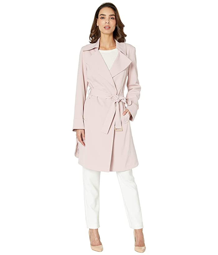 Vince Camuto Womens Belted Trench with Hood