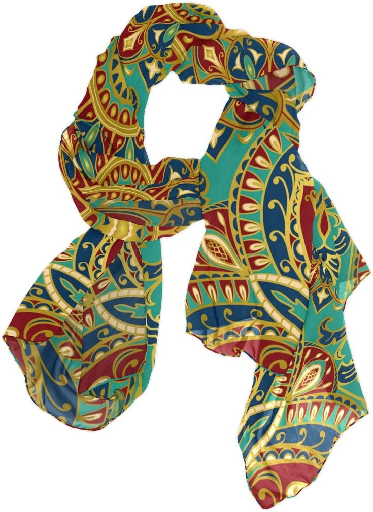 CFAUIRY Women Scarf Scarves Indian Tribal Floral Mandala Fashion Soft Lightweight Long Large Wrap Shawls