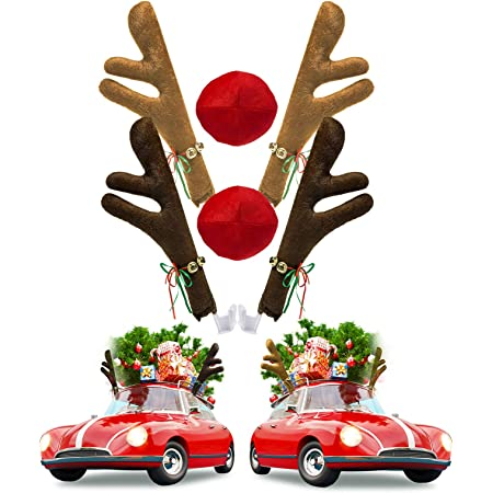 Merry Moments  ~ Holiday Car Decoration ~ Window Candy Canes ~ Candy Nose ~
