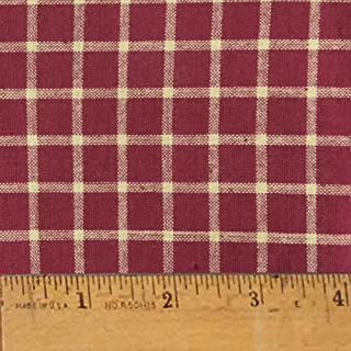 Rustic Red 7 Homespun Cotton Plaid Fabric by JCS - Sold by The Yard