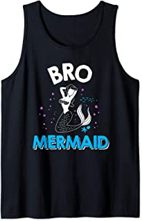 Mens Bro Brother Mermaid Matching Family Tank Top