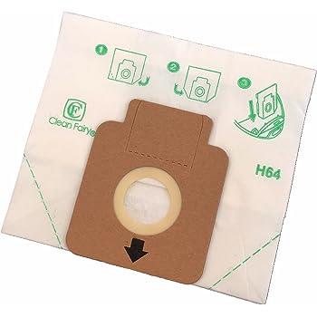 Clean Fairy - Bolsas de papel para aspiradoras tipo Hoover H58, H63, H64, Freespace, Sprint, Flash Cylinders - 20 bolsas: Amazon.es: Hogar