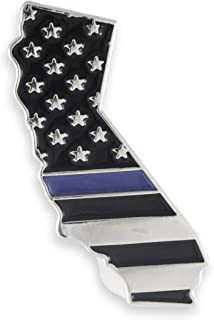 Forge California Blue Lives Matter State Shape Blue Line Lapel Pin (1 Pin)
