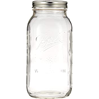 Amazon Com Ball Wide Mouth Half Gallon 64 Oz Jars With Lids And Bands Set Of 6 Canning Jars Kitchen Dining
