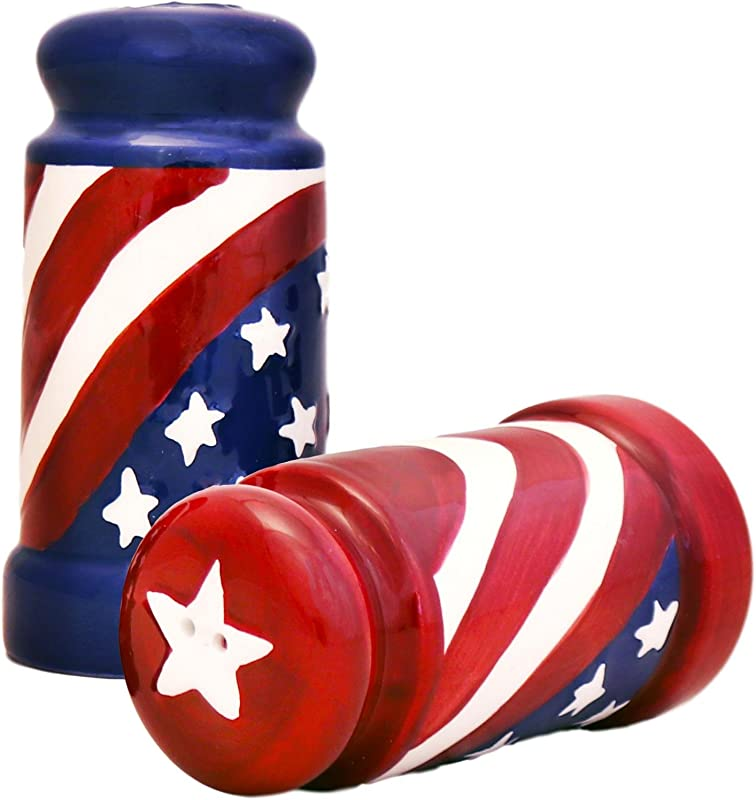 American Flag Salt Pepper Set Of 2 8 75 H By Ack