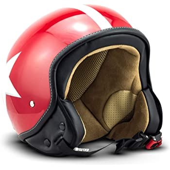 Rebel R9 Motorrad-Helm Roller-Helm Skeleton XS 53-54cm ECE Fiberglas SlimShell Tasche