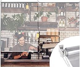 Liangjun Raamrollen, transparant, waterdicht, 0,5 mm, PVC, winddicht, voor terrasdeur, pergola, café en supermarkt