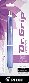 PILOT Dr. Grip Frosted Refillable & Retractable Ballpoint Pen, Medium Point, Purple Barrel, Black Ink, Single Pen (36250)