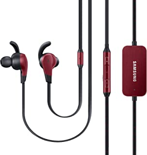 Samsung Advanced ANC Active Noise Cancelling Premium Wired Earphones w/Metal Finish (US Version with Warranty), Red