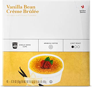 Archer Farms K-cup Vanilla Bean Crème Brulee Light Roast Coffee 48 Pods, pack of 1
