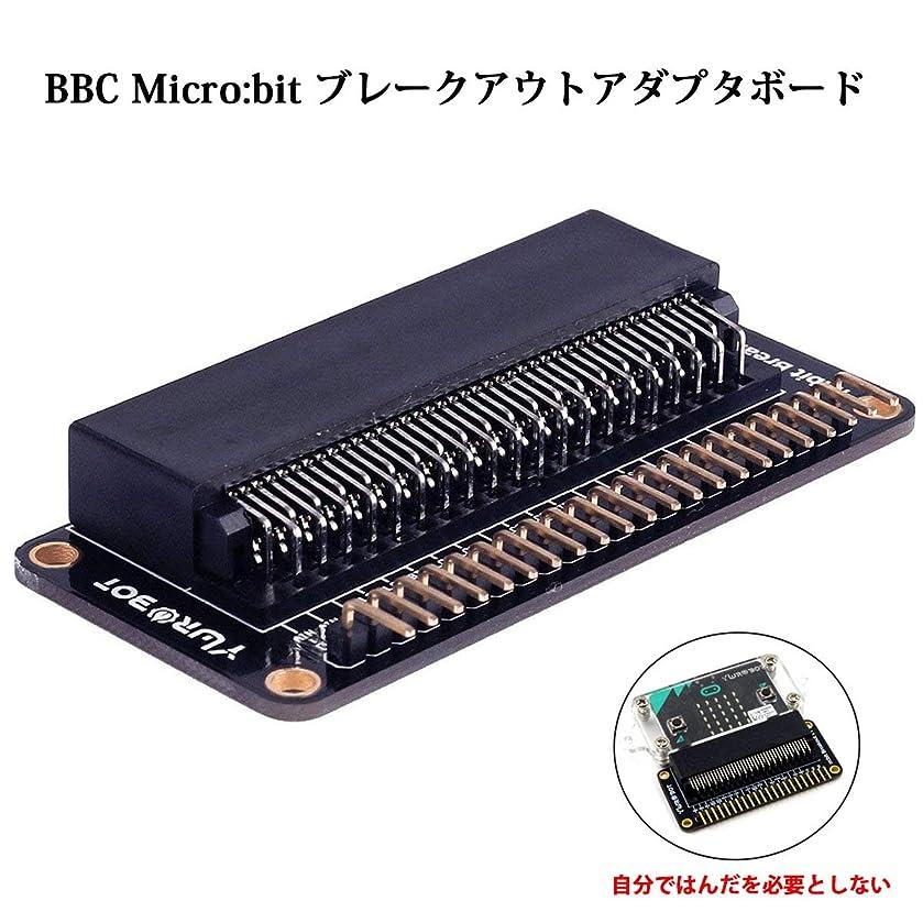 強打ピークのぞき見BBC Micro:bit ビット拡張ボード、ブレークアウトアダプタボード、マイクロビットブレークアウト、マイクロビット、BBC Micro: bit 教育用電子DIY(直接使用)