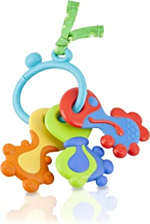Nuby 67932 Ring O Keys Teether, Blue and Orange