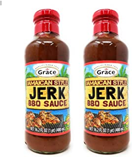 Grace Jamaican Style Jerk BBQ Sauce (2 Pack, Total of 32.4fl.oz)