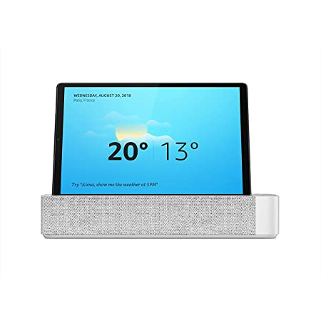"Lenovo Smart Tab M10 FHD Plus con Alexa integrada, 10.3"" Full HD (MediaTek Helio P22T, 4 GB de RAM, 64 GB ampliables hasta 256 GB, Android 9, WiFi + Bluetooth 5.0) Con Altavoz, Platinum Grey"