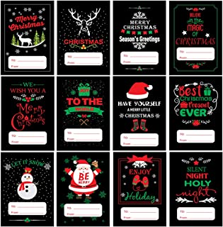 120 Pcs Self Adhesive Christmas Holiday Gift Name Tags Stickers On Christmas Present Labels Decoration