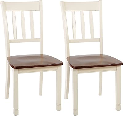 Phenomenal Amazon Com Barett Dining Chairs Grey And Chesnut Set Of 2 Gamerscity Chair Design For Home Gamerscityorg