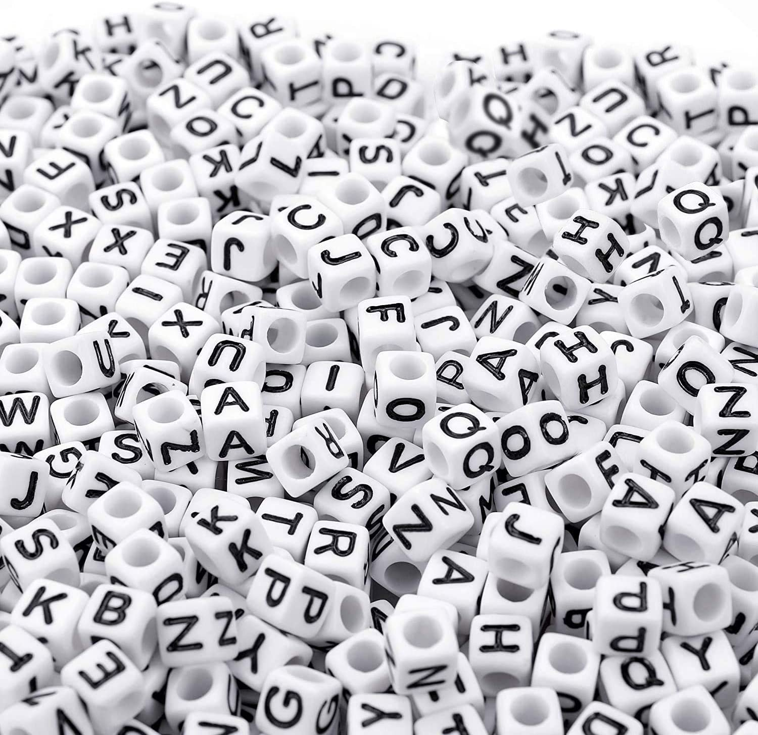700PCS White Letter Beads Alphabet for DIY Max 83% OFF Making Jewelry Bombing free shipping
