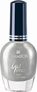 Chambor Gel Effect Nail Lacquer, Silver No.654, 10 ml