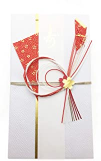 Sakura-KOMON, Japanese Traditional Gorgeous Envelope. for Celebration and Greeting. (Red)