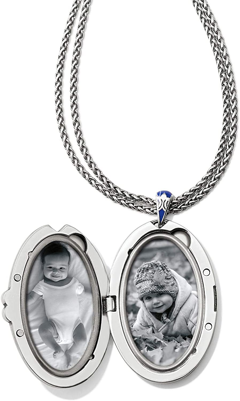 Brighton Royal Brocade Large Oval Convertible Locket Necklace