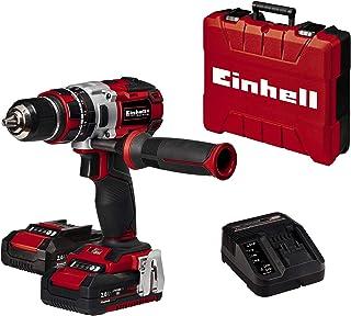 Einhell Cordless Impact Drill Driver TE-CD 18 Li-i BL Power X-Change (Lithium-Ion, Brushless Motor, Incl. Two 2.0 Ah PXC B...