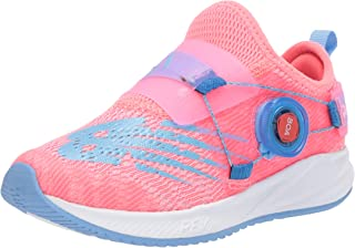 New Balance FuelCore Reveal Boa V2 Alternative Closure Running Shoe, Tahitian Pink/Cherry Blossom, 2 US Unisex Little Kid