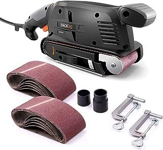 TACKLIFE Belt Sander 3×18-Inch with 13Pcs Sanding Belts, Bench Sander with..