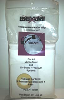 (Ship from USA) 3 pk GENUINE BEAM Vacuum Bags + 1 Filter for ON-BOARD VACS, Part 110041