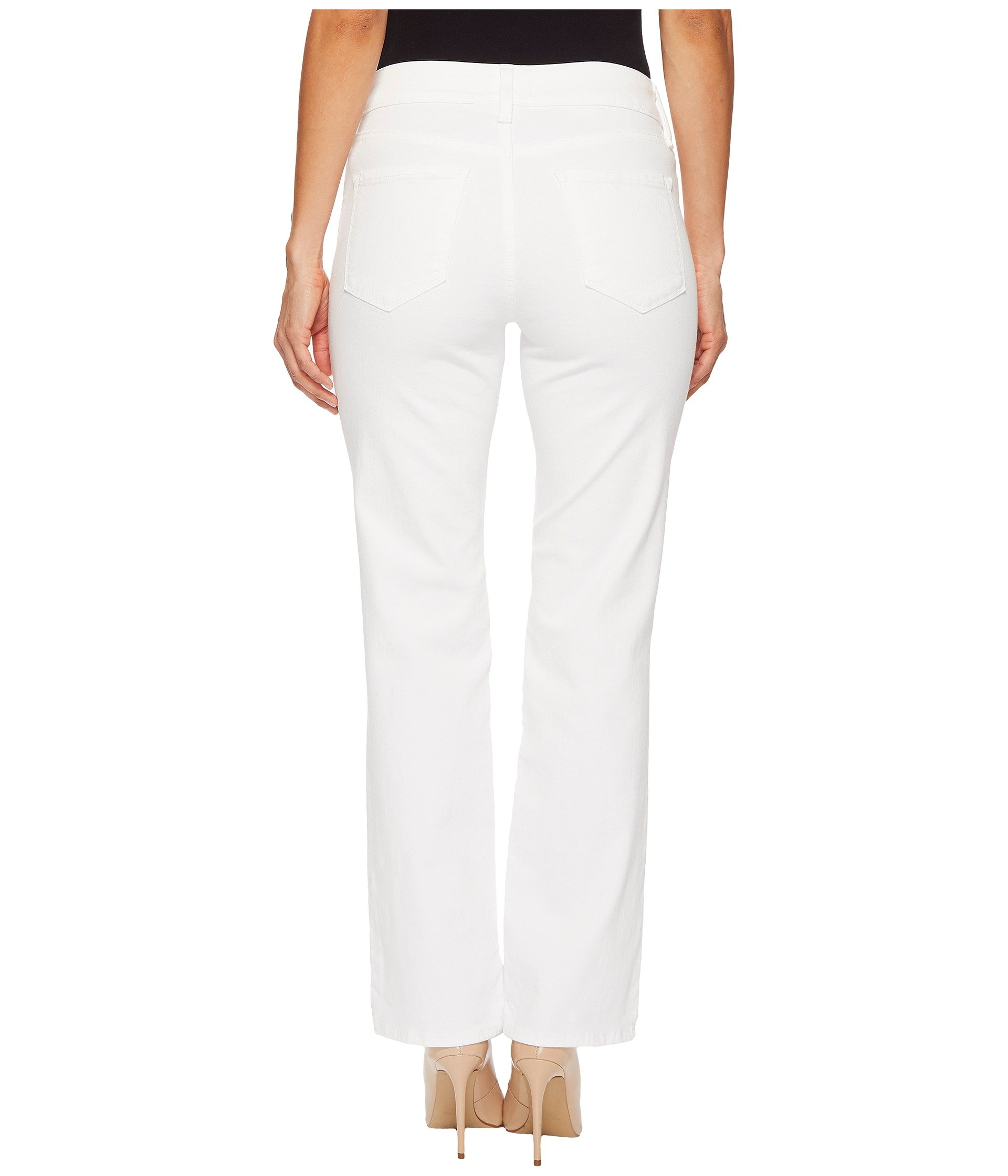 Petite Marilyn Straight in Optic White (Optic White) Womens Jeans NYDJ Petite Cheapest ib1ide9wO