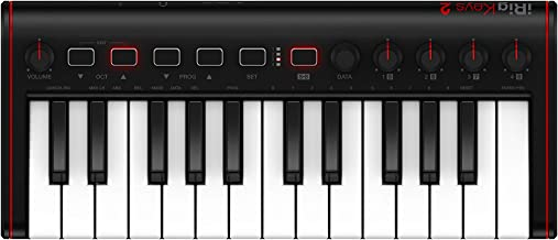 iRig Keys 2 MINI-Ultra-compact universal MIDI keyboard controller with 25 mini-keys and audio output for iPhone, iPad, And...