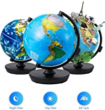 Globe 3 in 1 Illuminated Smart World Globe with Built-in Augmented Reality Technology, Earth by Day, Constellations by Night, AR App Experience, Adventure and Discovery, Educational Gift for Child