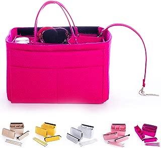 Purse Organizer Insert for Tote Bag, Handbag Shaper with New Detachable Zipper Fit LV Speedy Neverfull, Longchamp, Tote