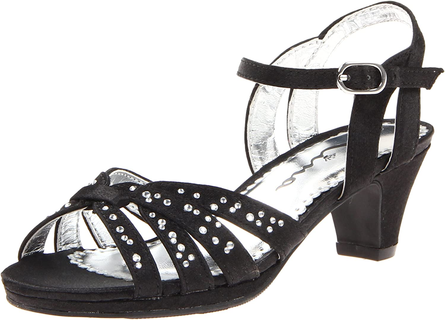 Nina Wendy Buckle Buckle Quarter Strap Dress Sandal (Toddler Little Kid Big Kid), schwarz Satin, 10 M US Toddler  um Ihnen einen angenehmen Online-Einkauf zu ermöglichen