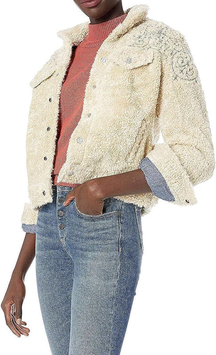 Lucky Brand Women's Sherpa Tomboy Trucker Jacket