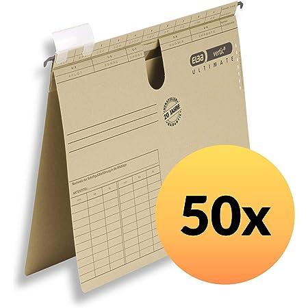 ELBA 100552070 Komfort-Sichtreiter vertic f/ür H/ängeregister 25 St/ück aus PP Kunststoff mit Beschriftungsschildchen und aufklappbarer R/ückwand farblos