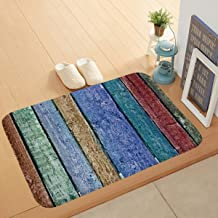 Bath Mat Non-Slip Absorbent Soft Mat,Solid Wood Floor Printing pad,Suitable for Bathroom Living Room Kitchen Bedroom,40 * ...