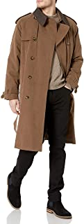 London Fog Men's Iconic Trench Coat, British Khaki, 46 Long