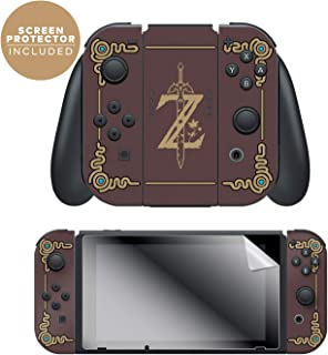 Controller Gear Nintendo Switch Skin & Screen Protector Set, Officially Licensed By Nintendo - The Legend of Zelda: Breath of the Wild:
