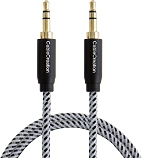 CableCreation 3.5mm Audio Cable, 3.5mm Male to Male Stereo Aux Cable for Car, 3FT Aux Cord Compatible with Sony/Beats Head...